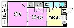 ロイヤル三津[410 号室号室]の間取り