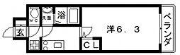 Osaka Metro谷町線 四天王寺前夕陽ヶ丘駅 徒歩5分の賃貸マンション 11階1Kの間取り