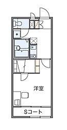 西武秩父線 東飯能駅 徒歩17分の賃貸アパート 2階1Kの間取り