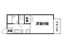 シティハイツ紫野[2階]の間取り
