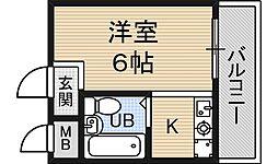 グリーンハイツ2[4階]の間取り