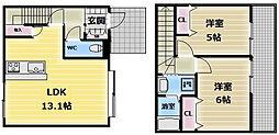 フェリシェ長堂[2階]の間取り