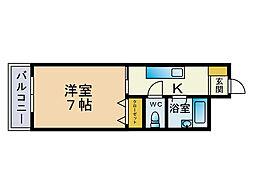 メゾンマコイ原[3階]の間取り