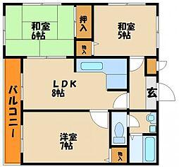 ロイヤル神戸舞子台[2階]の間取り