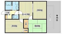 ルミエール飾磨ⅡB棟[205号室]の間取り