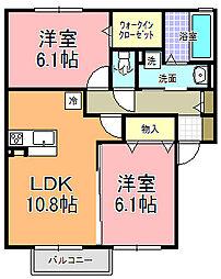 仮)D−room寄井 F[203号室]の間取り
