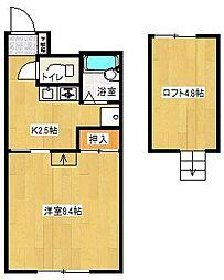 ウッドワン1番館[1階]の間取り