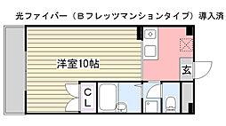 TONBOマンション[301号室]の間取り