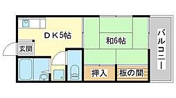 メゾン澤田[F201号室]の間取り