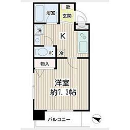 ハイネス新川崎[5階]の間取り