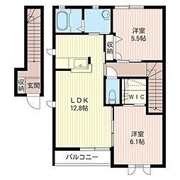 パークシャトーA[2階]の間取り