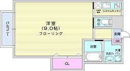 JR仙山線 東北福祉大前駅 徒歩15分の賃貸アパート 2階1Kの間取り
