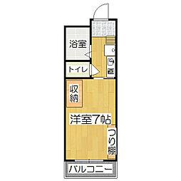 Racross桃山[103号室]の間取り