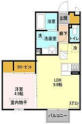 埼玉県さいたま市桜区栄和5の賃貸アパートの間取り