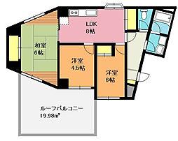 桶川中央マンション[3階]の間取り