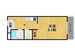 ソレイユ新伊丹[1階]の間取り