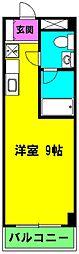 静岡県浜松市中区木戸町の賃貸マンションの間取り