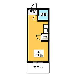 幸川マンション南館[1階]の間取り