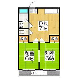 多田ハイツ[1階]の間取り
