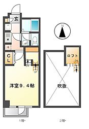 愛知県名古屋市千種区井上町の賃貸マンションの間取り