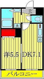 アリエッタコート 3階1LDKの間取り
