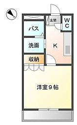 愛知県名古屋市南区上浜町の賃貸アパートの間取り