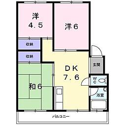 細澤マンション[403号室]の間取り