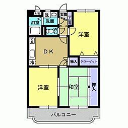 黒木ビル[1階]の間取り
