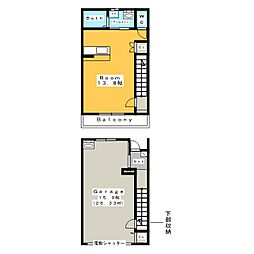 [新築] Garage Villa Yonezu[2階]の間取り