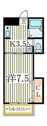 ハイムまことB棟[1階]の間取り