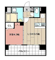 三島マンション博多駅東[601号室]の間取り