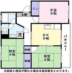サンブルグ山田[3階]の間取り