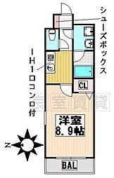 愛知県名古屋市千種区松軒2丁目の賃貸マンションの間取り