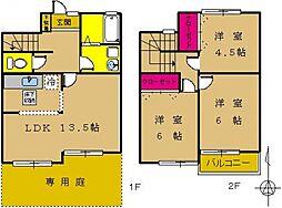 [タウンハウス] 東京都町田市成瀬台1丁目 の賃貸【/】の間取り