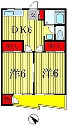 第1アンビルマンション[205号室]の間取り