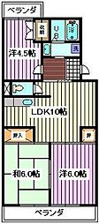埼玉県さいたま市南区沼影1丁目の賃貸マンションの間取り