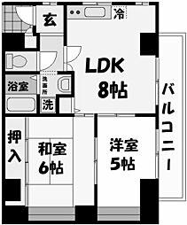 ランドベルク[3階]の間取り