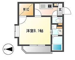 ベルビレッジ覚王山[4階]の間取り