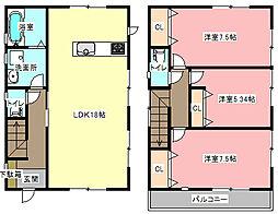 [一戸建] 静岡県浜松市中区早出町 の賃貸【静岡県 / 浜松市中区】の間取り