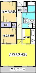 LANAIGRACE KUNITACHI[2階]の間取り