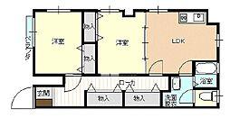 並木コーポ63[102号室号室]の間取り