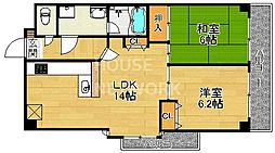 ライオンズマンション祇園[507号室号室]の間取り