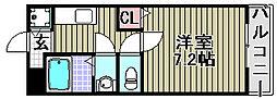 ペアーコート泉佐野B棟[203号室]の間取り