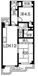 ハッピーコート大蔵谷駅前[1階]の間取り
