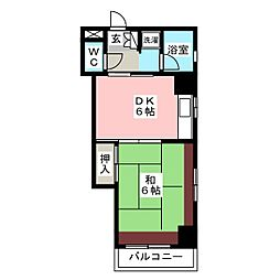 駅東レジデンス[5階]の間取り