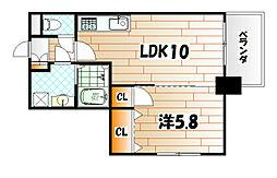ERIOS COURT 中津口[12階]の間取り