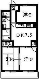 ハイツ生藤[204号室]の間取り