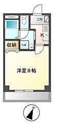 愛知県名古屋市中川区柳森町の賃貸アパートの間取り