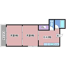 ハイツヒロ[2階]の間取り