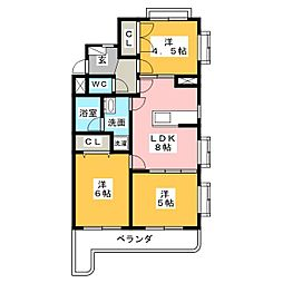 グレース篠木III[1階]の間取り